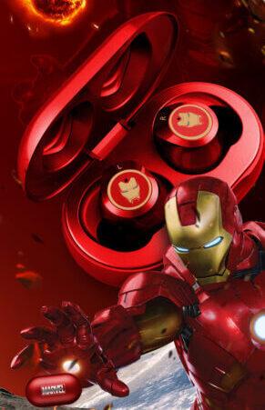 Marvel Sertifikovani Captain America TVS bežične stereo slušalice Bluetooth V5.0 slušalice Podrška za povezivanje dva mobilna telefona