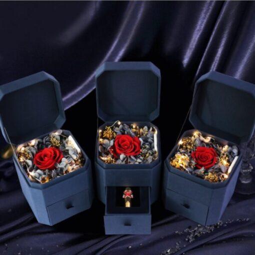Kutija za nakit sa pravom Zauvek trajnom ruzom za bizuteriju nakit zenski muski upazi.rs upazishop