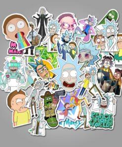 sticket stikeri upazi ricky morty stiker upazishop upazi shop online
