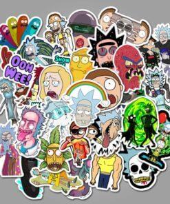 sticket stikeri upazi ricky morty stiker upazishop upazi shop online shop 2020