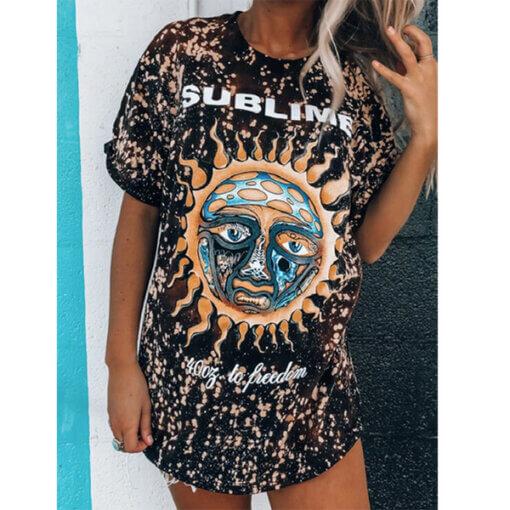 Letnja zenska haljina povoljno popusti sunce prirodna trippy peace upazi shop online kupovina beograd srbija