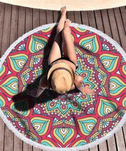 Prostirka za plazu bohamian stil peskir za kupanje more upazi slikanje tiktok povoljno leto